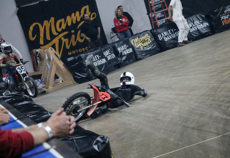 My one experience flat track racing at Flat Out Friday - photo by S&S